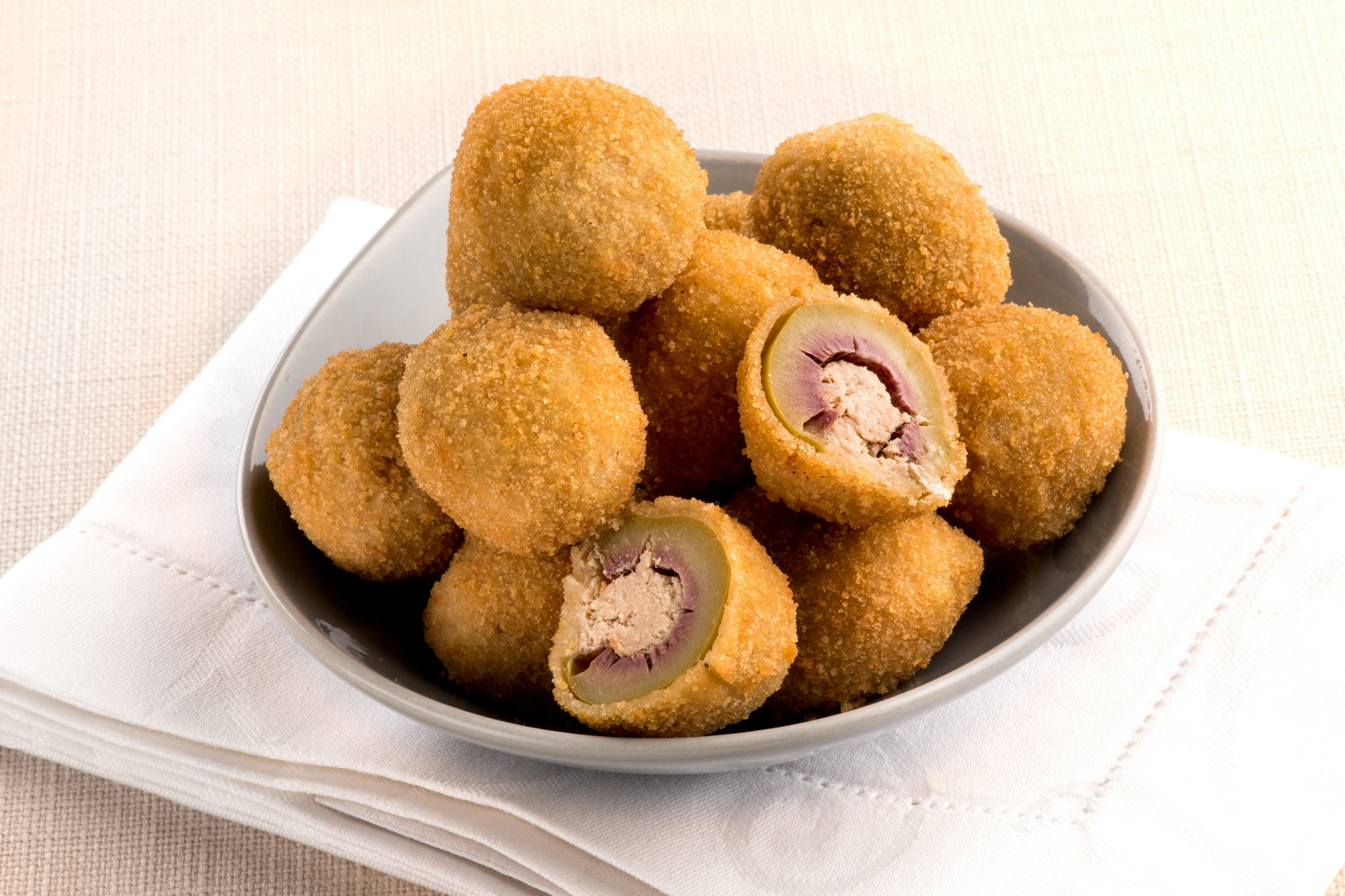 Olive ascolane, or deep fried stuffed olives